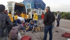 Narenciye işçilerini taşıyan minibüs kaza yaptı: 1 ölü, 24 yaralı