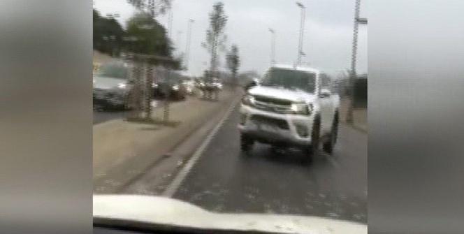 Trafik magandasının yaptığı kaza kamerada
