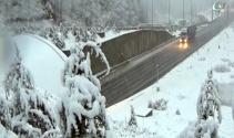 Boluda yoğun kar yağışı başladı