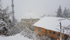 Sakarya Dikmen yaylasında kar kalınlığı 25 santimetreye ulaştı
