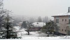 Keskine mevsimin ilk karı düştü