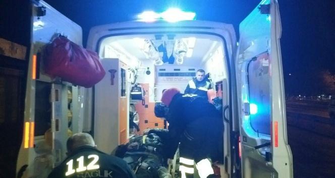 Düzcede meydana gelen kazada bisiklet sürücüsü yaralandı