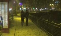 Bayburtta kar yağışı