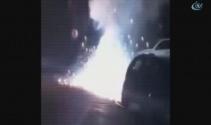 Avcılarda patlayan elektrik kabloları paniğe neden oldu