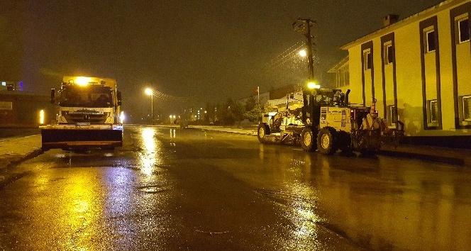 Erzurumda kar yağışı
