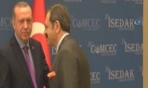 Cumhurbaşkanı Erdoğan ile Hisarcıklıoğlu arasında güldüren sigara diyaloğu