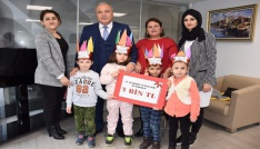 Minik öğrencilerden Suriyeli akranlarına anlamlı bağış