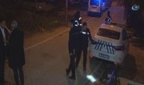 Eşini iki bıçakla kovalayan şahıs polise saldırınca bacağından vuruldu