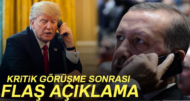 Erdoğan'dan Trump görüşmesi sonrası açıklama!