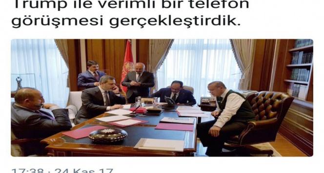 Erdoğan Trumpla görüştü