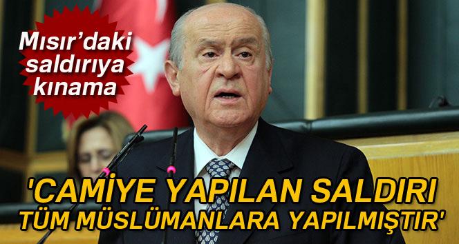 MHP Lideri Bahçeli: 'Camiye yapılan saldırı tüm Müslümanlara yapılmıştır'