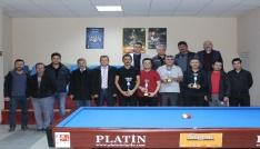 Karamanda öğretmenler günü bilardo turnuvası sona erdi