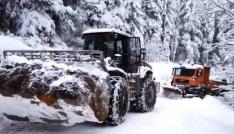 Artvinde kar nedeniyle 21 köy yolu ulaşıma kapalı bulunuyor