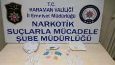 Karamanda uyuşturucu satıcısı 1i kadın 3 kişi tutuklandı