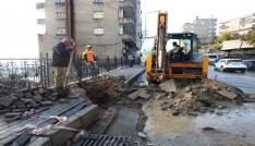 Kış hazırlıkları kapsamında yağmur suyu drenaj hatları kuruluyor