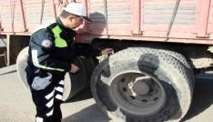 Yozgatta trafik ekipleri kış lastiği denetimi yaptı