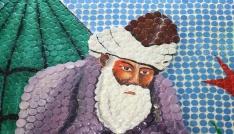 5 bin şişe kapağıyla Mevlananın mozaik tablosunu yaptılar