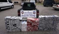 Midyatta 6 bin 300 paket kaçak sigara ele geçirildi