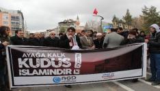 Karamanda Kudüs protestosu