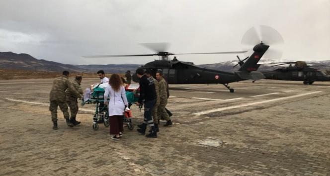 Tuncelide hasta için askeri helikopter tahsis edildi