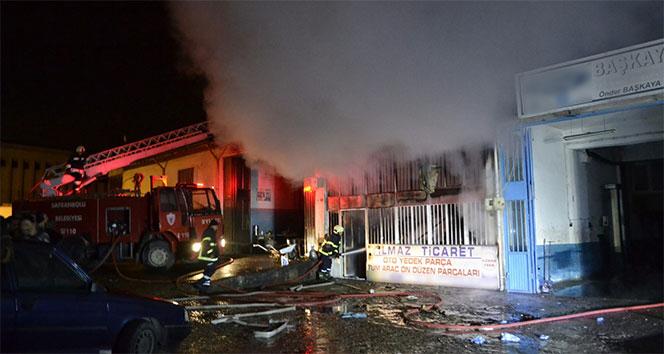 Karabükte iş yeri yangını! Karabük haberleri