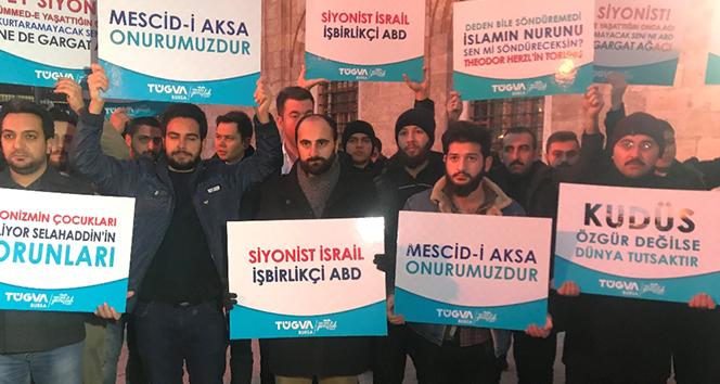 Ulucami'de Kudüs eylemi