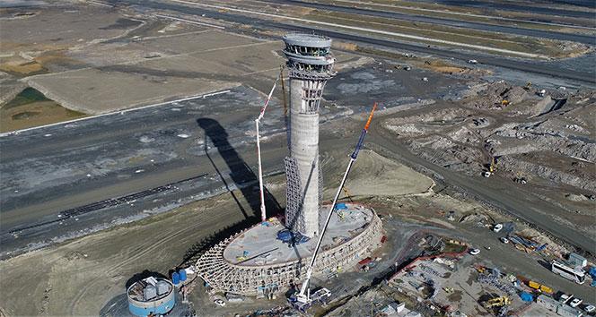 3. Havalimanının lale figürlü kulesinin yüksekliği 90 metreye ulaştı