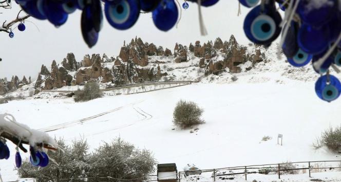 Kapadokyadan muhteşem kar manzaraları