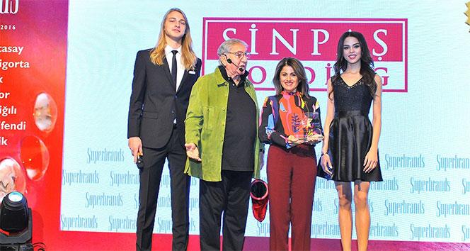 Sinpaş ikinci kez Süper Marka ödülünü aldı