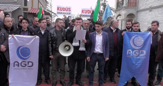 ABD'nin Kudüs kararı Bartın'dan da protesto edildi