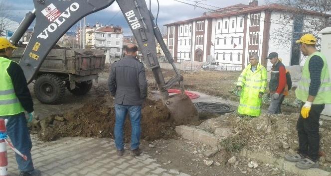 Hisarcık'ta Mobese sistemi kurulumuna başlandı