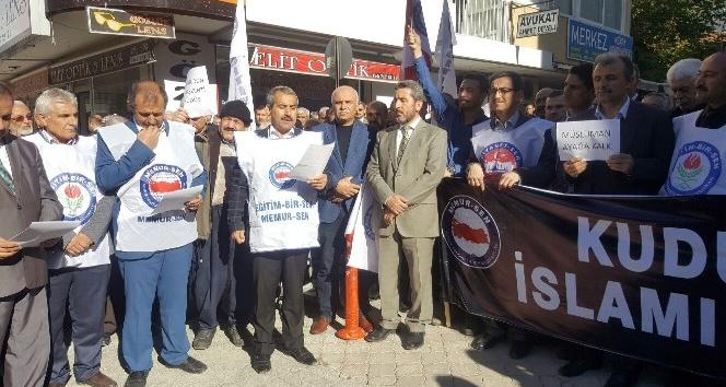 Osmaniye'de Kudüs kararı protestosu