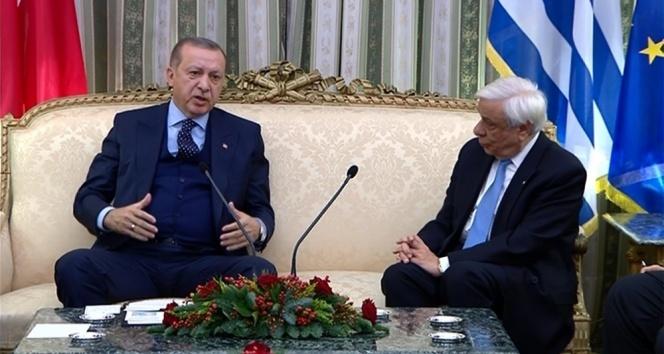 Erdoğandan Yunan mevkidaşına tarihi ayar