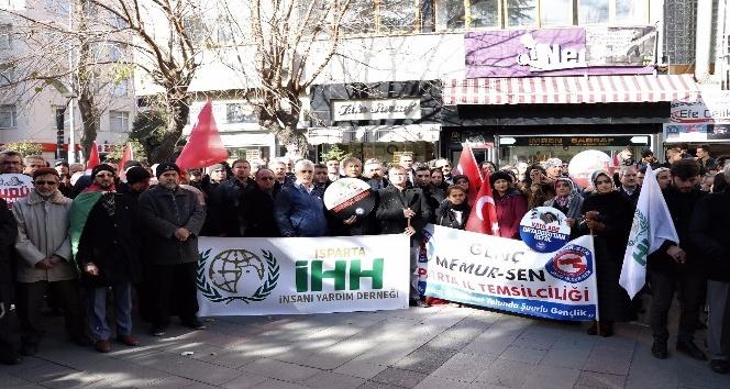 Isparta'da Kudüs protestosu