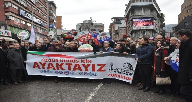 Zonguldak'tan ABD'nin Kudüs kararına tepki