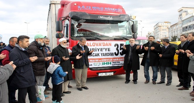 Suriye'ye Yalova'dan 20 ton yakacak yardımı