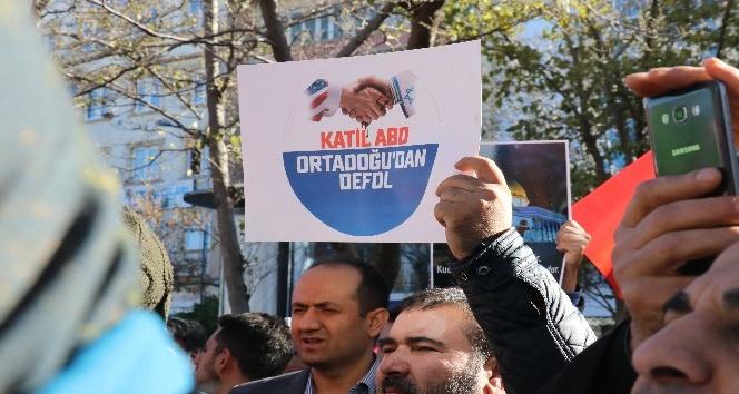 Gaziantep'te Kudüs protestosu gündüz de devam etti