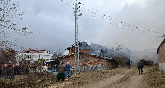 Yangında ev ve samanlık küle döndü