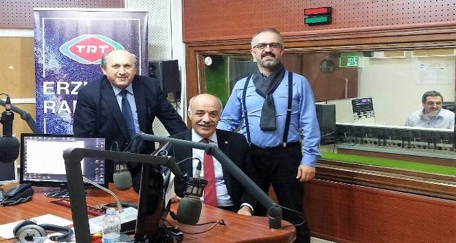 Yücelik, TRT Erzurum Radyosu'na konuk oldu