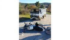Bayramiçte trafik kazası: 1 yaralı