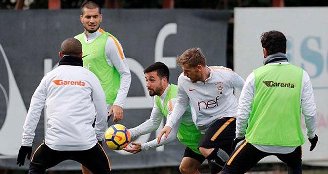 Galatasarayda Akhisarspor maçı hazırlıkları sürüyor
