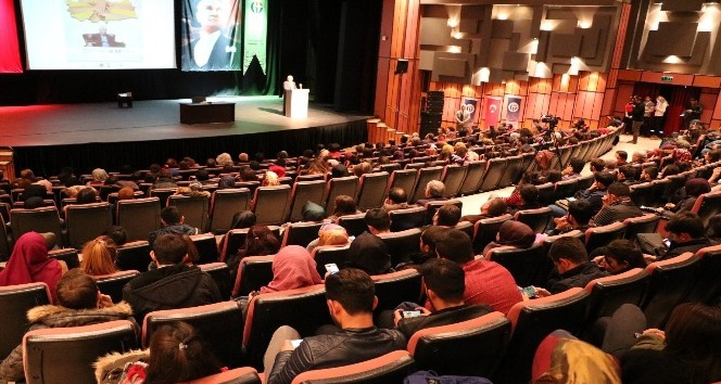 GAÜN'de Prof. Dr. Buran'dan ''Dilimiz Kimliğimizdir'' konferansı