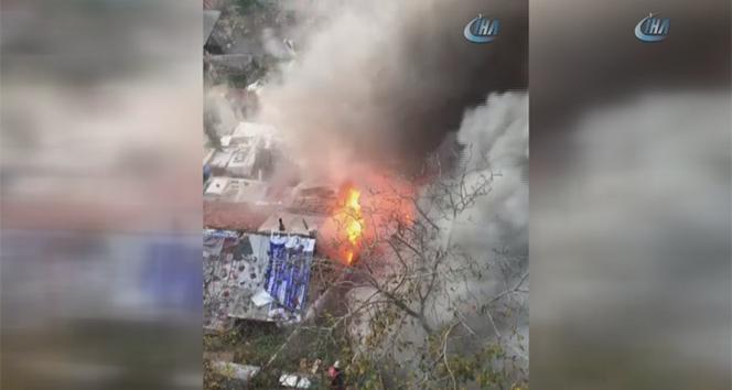Üsküdarda korkutan yangın |İstanbul haberleri