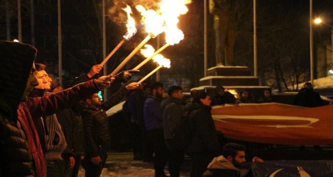 """Ülkü Ocaklarından """"Kudüs"""" protestosu"""