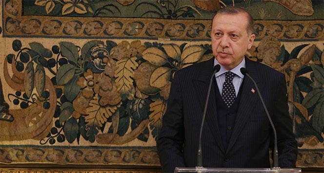 Cumhurbaşkanı Erdoğan, onuruna verilen yemeğe katıldı...