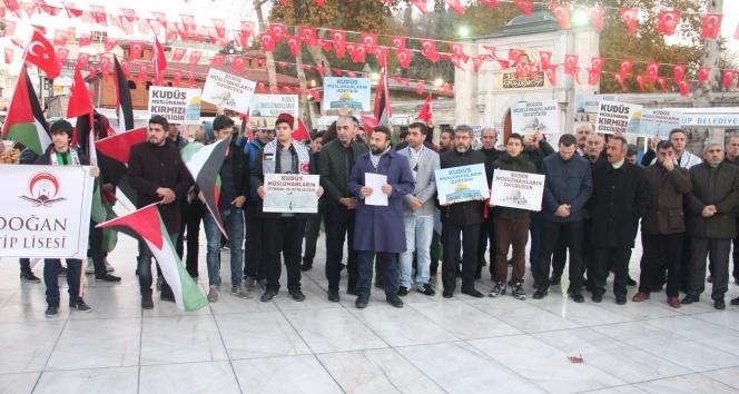 Eyüp Sultan'da ABD'nin Kudüs kararına tepki