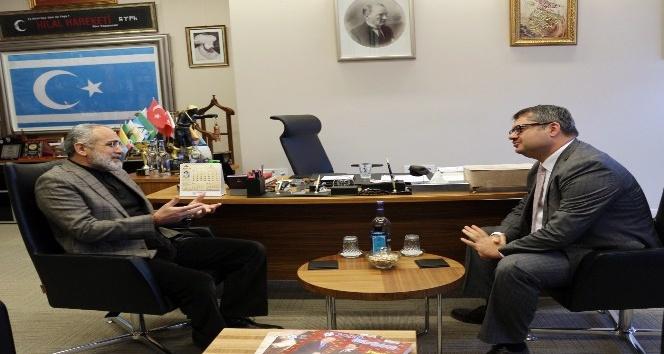 Cumhurbaşkanı Başdanışmanı Topçu, Azerbaycan Ankara Büyükelçisi İbrahim ile bir araya geldi