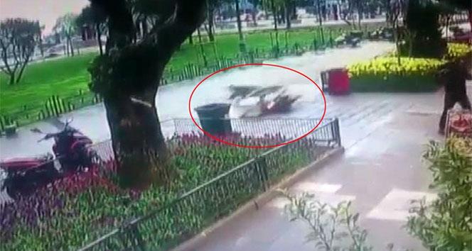 İstanbul'da motosiklet sürücüsü ölümden döndü