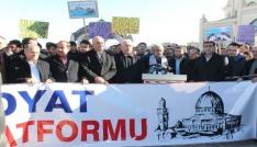 Midyatlılar ABDnin Kudüs kararına tepki gösterdi