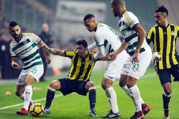 Bursaspor Fenerbahçe maçından kareler